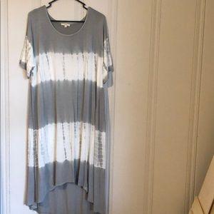 High to Low Tie Dye Maxi Dress